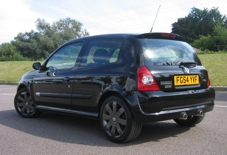 USED RENAULT CLIO RENAULTSPORT 182 WITH BOTH CUP PACKS BLACK GOLD
