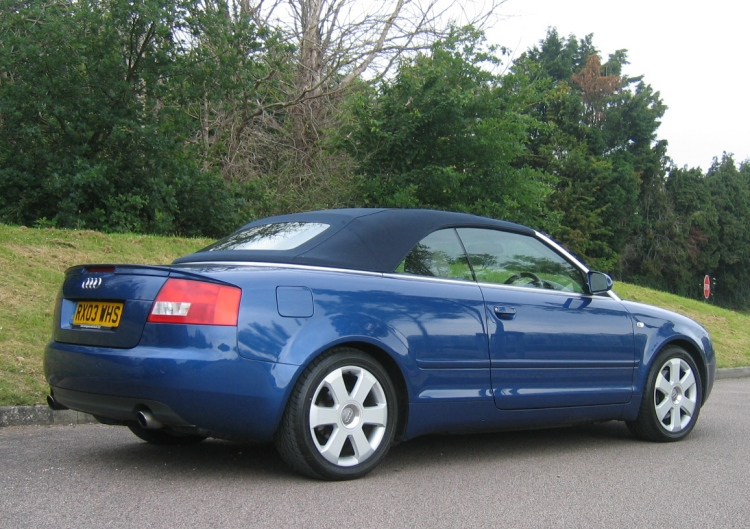 2003 03 PLATE AUDI A4 CABRIOLET 2.4 SPORT AUTOMATIC FOR SALE. METALLIC